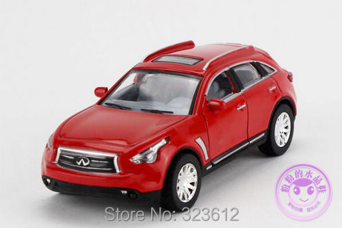 Free shipping 1:36 Infiniti FX50 Alloy Diecast Vehicle Car Model Collection Sound&Light Red B2273(China (Mainland))