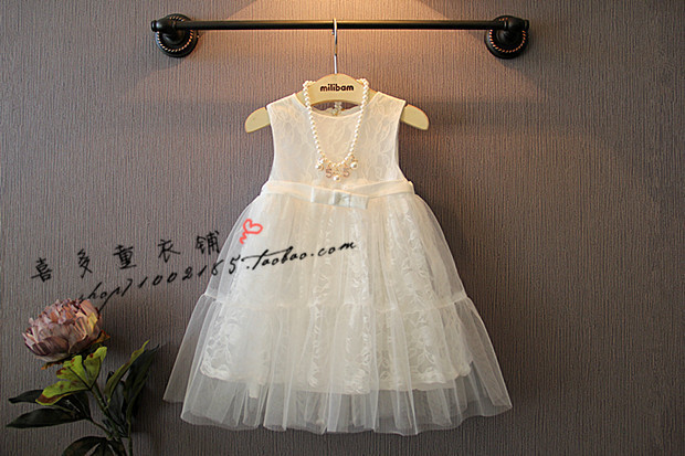New 2016 Children Girl's Casual Dresses Spring Summer Autumn White Girls Lace Dress Princess Dresses Kid Baby Clothes(China (Mainland))