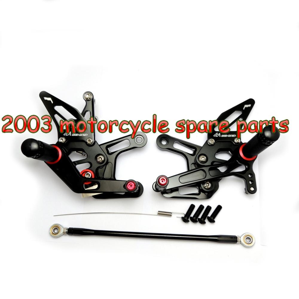 Здесь можно купить  CNC For 2006-2014 For Yamaha YZF-R6 2006-2014 Adjustable Rearsets Footpegs Footrest Black FARYA002-B CNC For 2006-2014 For Yamaha YZF-R6 2006-2014 Adjustable Rearsets Footpegs Footrest Black FARYA002-B Автомобили и Мотоциклы