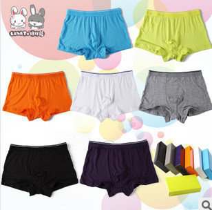 5 piece/Lot Free Shipping 3-15 Teenager Boys/Child Modal underwear pantiesboy solid color boxer shorts/Boy briefs Drop shopping<br><br>Aliexpress