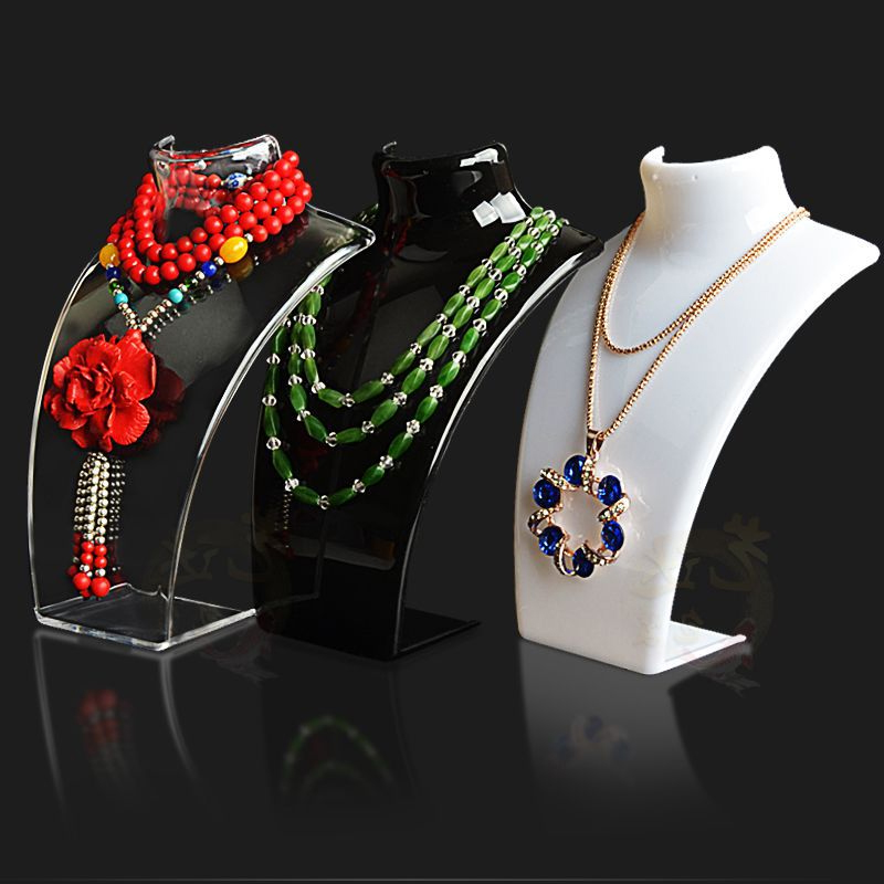 New and Hot Sale Three Colors 20*13.5*6cm Mannequin Necklace Jewelry Pendant Display Stand Holder Show Decorate Retail(China (Mainland))