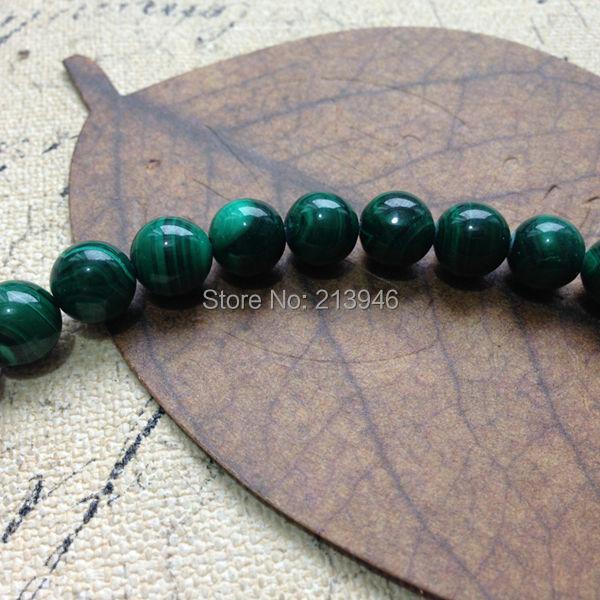 (40Pcs=1Strand/Pack ) 10MM 100% AA Natural Malachite Loose Bead Semi-precious Stone Strands Jewelry Beads<br><br>Aliexpress