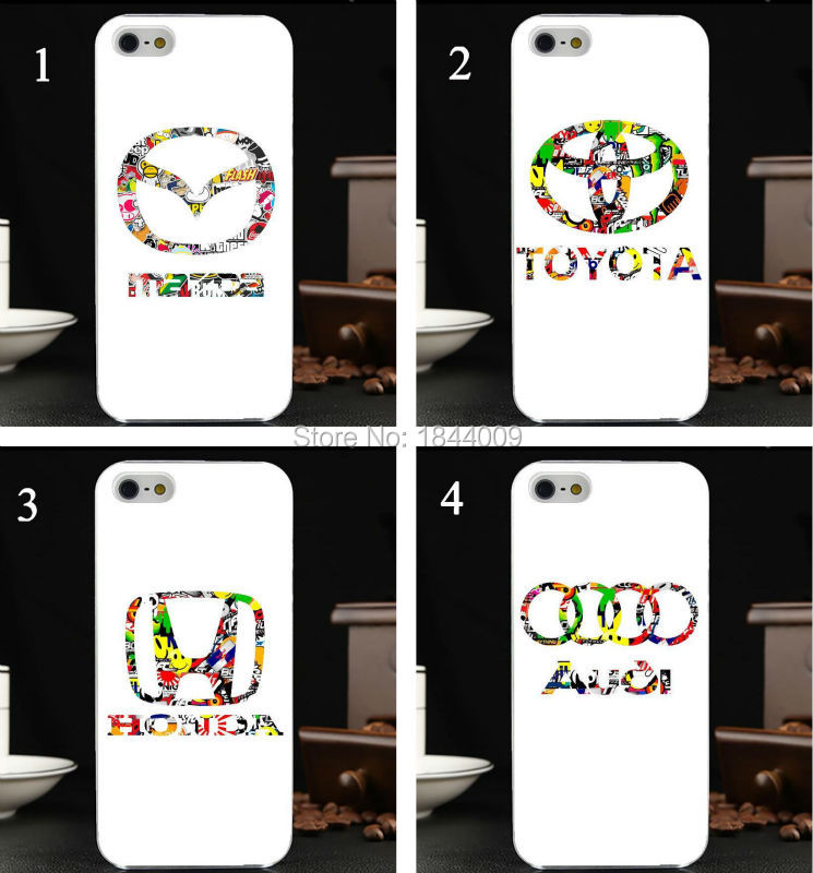 bomb stickers car logo Style Hard Skin Transparent stealth Cover Case for iphone 5 5s 4 4S 5c(China (Mainland))