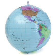 PVC Inflatable World Globe Geography Pool Ball Kid's Toys Map Inflatable Blow Up Toy Ball For Education Classroom/Family Tutor(China (Mainland))