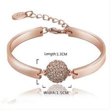 Buy Brand Charm Bracelets & Bangles Rose Gold Women Elegant Fashion Wedding Party Jewelry NEW Sl 166 for $3.83 in AliExpress store