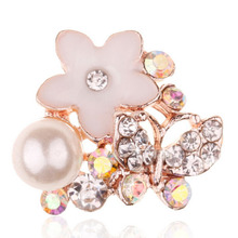 Buy HBC118 20pcs/lot 17*15MM Rhinestone Pearl Button Flatback Wedding Embellishment Hair Bow Alloy Button DIY Hair Accessory for $7.66 in AliExpress store