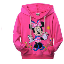 2015 minnie mouse clothing for girl kids spring autumn long sleeve casual t-shirt hoodies sweatshirt(China (Mainland))