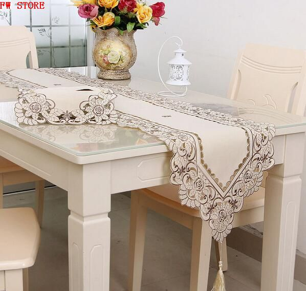 Table Runner 40*40cm To 40*290cm Polyester Fashion Pattern Home & Hotel Runner European Embroidered Hollow Runner(China (Mainland))