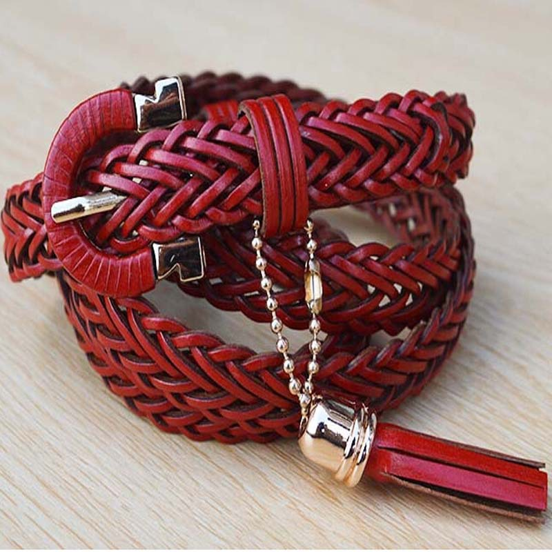2015 New summer style designer belts for women Fashion ladies metal genuine leather belts for women with tassel Charm(China (Mainland))