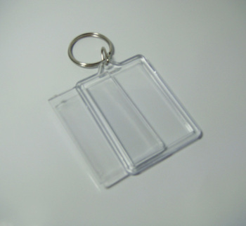 "200pcs Blank Acrylic Rectangle Keychains Insert  Photo Keyrings (Key ring chain)2.25""x 1.65"""
