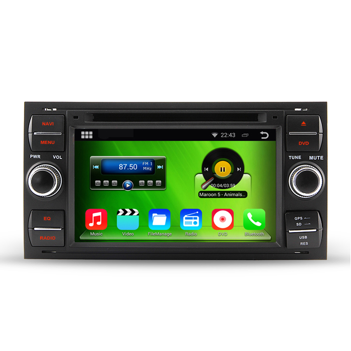 HD Capacitive Screen 1024*600 Auto Android 4.4.4 PC Car DVD GPS For Ford Galaxy C-max Fiesta Fusion With Mirrorlink WiFi DVR(China (Mainland))