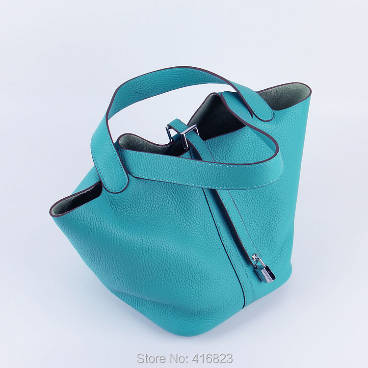 Wholesale 2014 New Women Togo Genuine Leather Bucket Bag Casual Basket Handbags Lady Fashion Tote Purses EMS Fast Free Shipping<br><br>Aliexpress