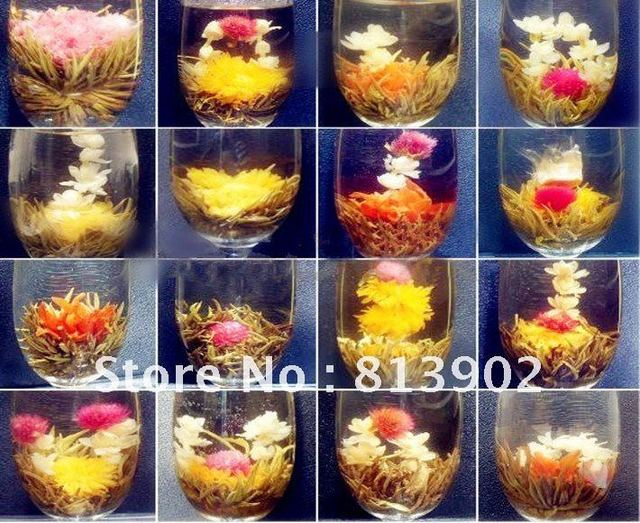 Free shipping 16 Handmade Blooming Flower Flowering Green Artistic Tea Ball HOT ITEM