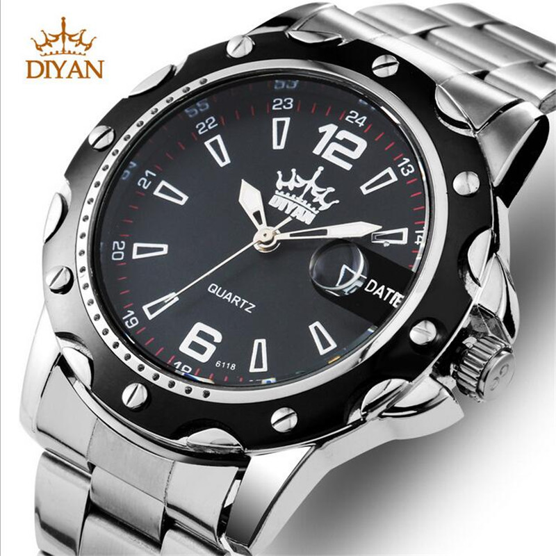 2016 Sale Promotion Stainless Steel Waterproof Business Watch Fashion Quartz Wristwatch Sports Watches Relogio Masculino(China (Mainland))