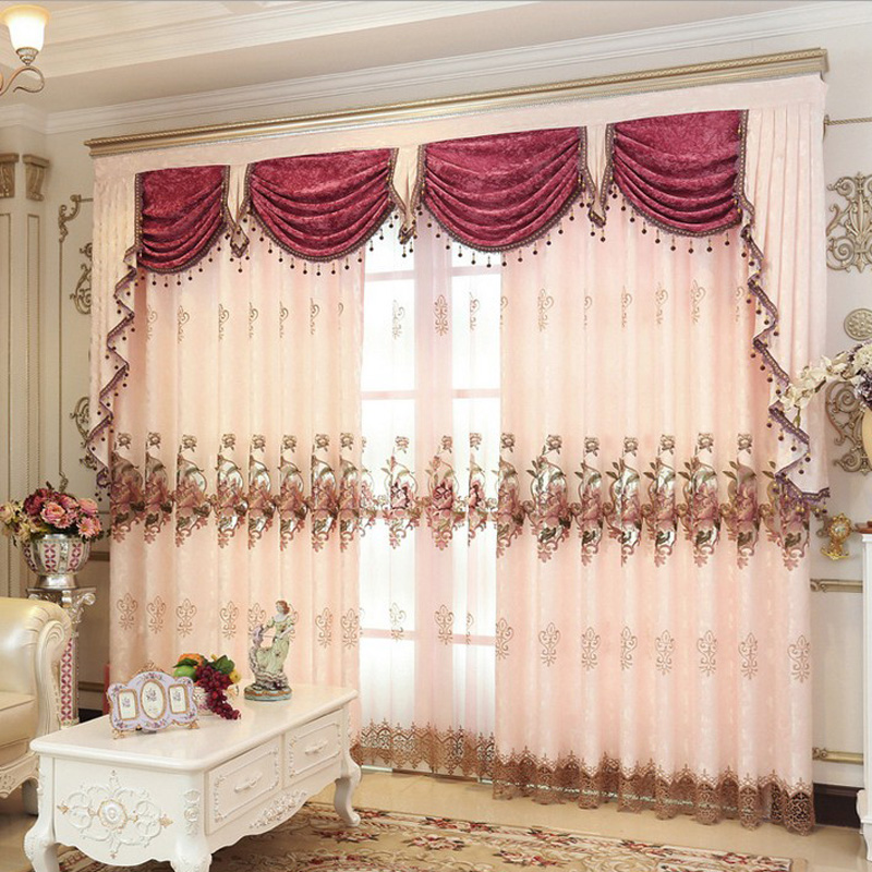 Wohnzimmer Gardinen Ideen Pink Gold Brown Embroidered Beads Curtains For Living Room Luxury