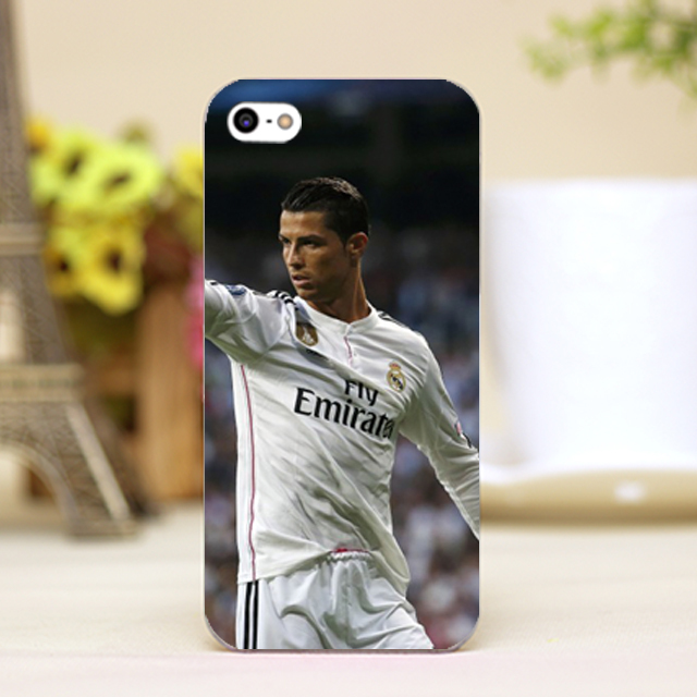 pz0018-2-24 for Cristiano Ronaldo Design cellphone transparent cover cases for iphone 4 5 5c 5s 6 6plus Hard Shell