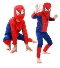 Spiderman Batman Children Party Costumes Halloween Gift For Girls Boys Clothes Children's Set  Children's Clothing Set(China (Mainland))