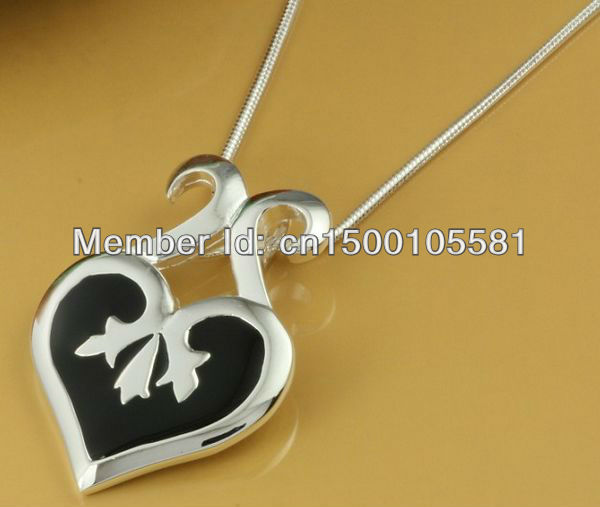 GY-PN665 Wholesale lots!Factory price 925 silver fashion jewelry Pendant with Chain Necklace fpla ogsa wyba