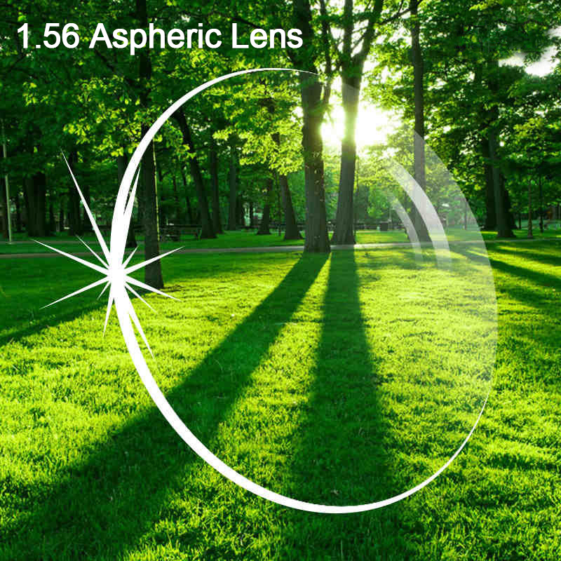 Free prescription filling service 1.56 Asperic Lens anti scratch radiation coating protection myopia resin optical lens 003