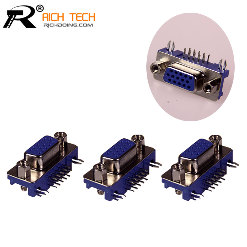 RICH TECH DB 15PIN Terminals Connectors Kit Parallel Interface Adapter DIY DB15 Terminals D SUB Female PCB connector for PC use(China (Mainland))