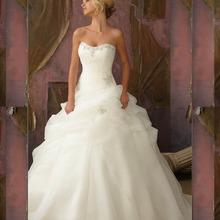 2014 neue Modische Weiß Elfenbein-schatz-organza Mit Pailletten Falten Brautkleider 2014 Brautkleider Vestidos De Novia(China (Mainland))