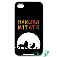 Fit for iphone 4 4s 5 5s 5c se 6 6s plus ipod touch 4/5/6 back skins cellphone case cover Hakuna Matata Lion King