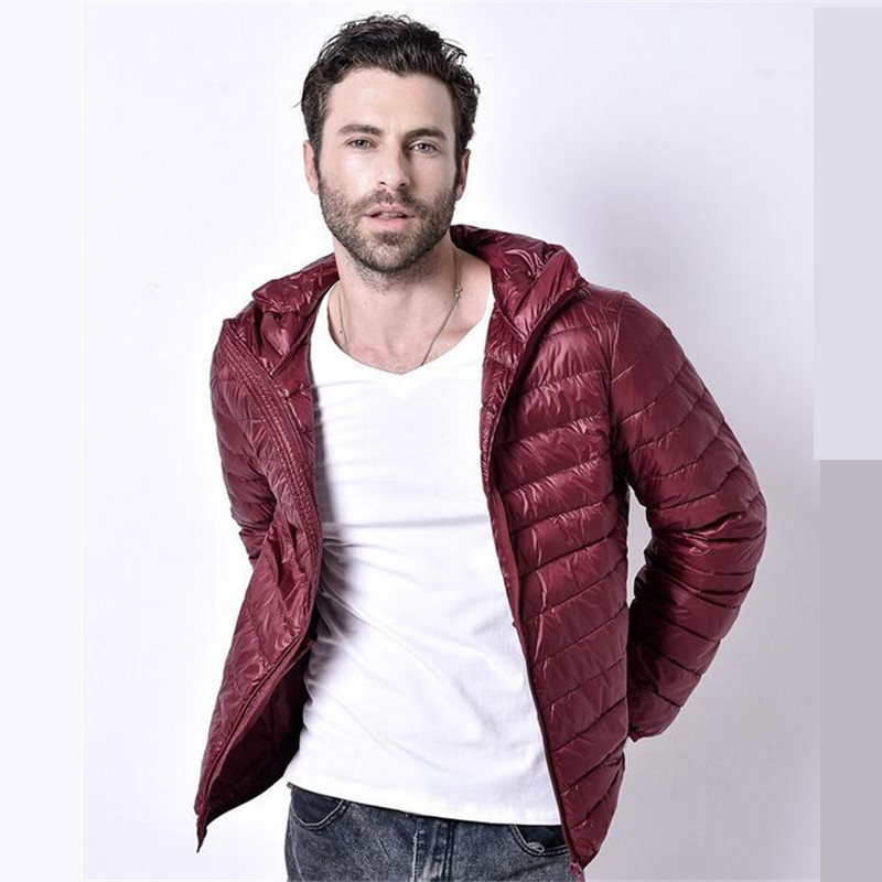 2016 Men Winter Coats Feather Jacket Men Ultralight Down Jackets Outdoors With A Hood Parka Homme(China (Mainland))