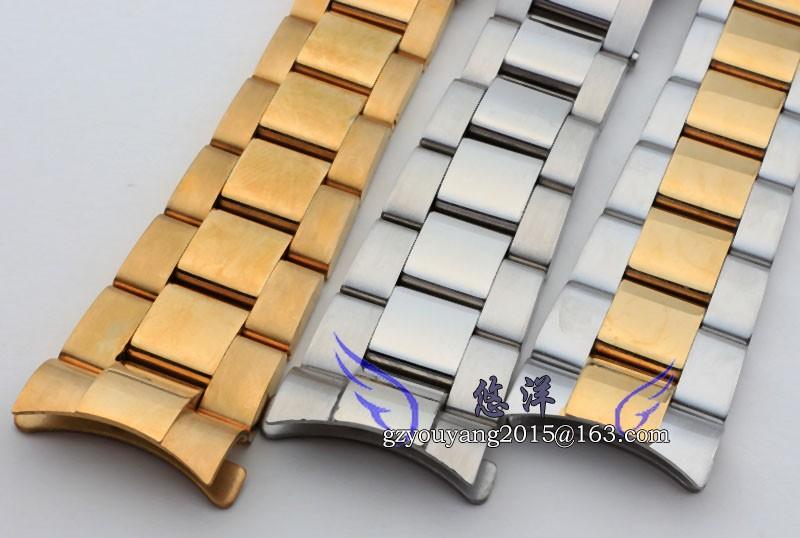 Смотреть полоса 20 мм Серебро Золото Замена Ремешок Из Нержавеющей Стали Браслет Ремешок Для Бренда 116523