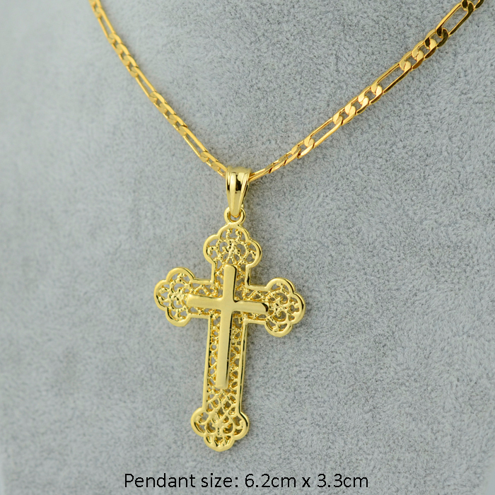 Gold Rosary Chain Necklace With Crucifix Gold Cross Chain Men Crucifix