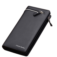 Hot!! Fashion Men Brand Design Leather Wallets Business Long Zipper Purse Honorable Clutch Coin Bag In Bag