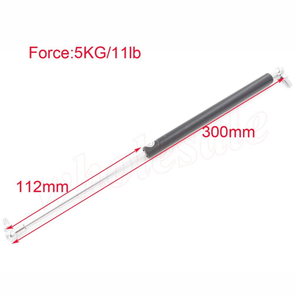 Wholesale of 4 pcs 5KG 11lb Force 112mm Long Stroke Hood Lift Support Auto Gas Spring M8 Hole Diameter(China (Mainland))