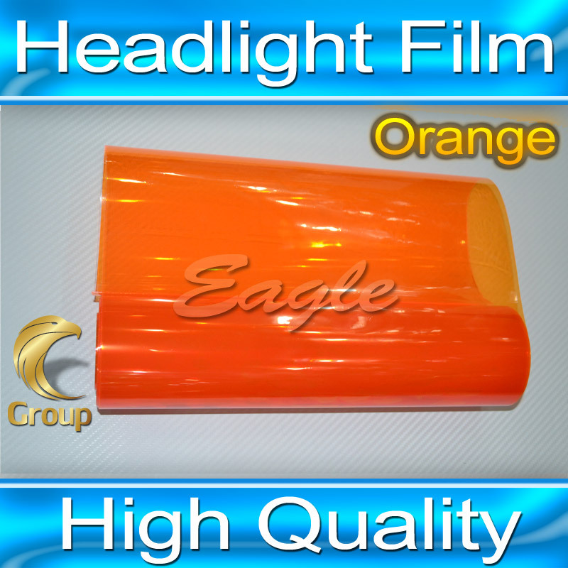 30CMx10M Orange Auto Car Sticker Smoke Fog Light HeadLight Taillight Tint Vinyl Film Sheet Car Decoration Decals(China (Mainland))