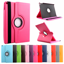 For Apple Ipad Air 1 PU Leather Smart Case + Bracket Flip Stand 360 Degree Rotating Book Cover Holder with belt buckle For Ipad5
