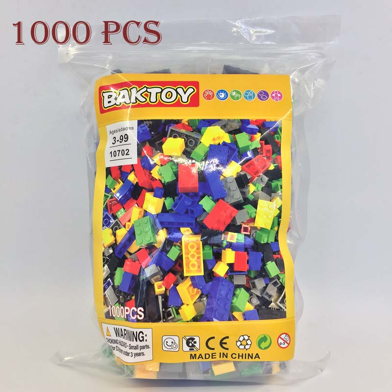 BAKTOY 10702 1000 Pcs Building Bricks Set DIY Creative Brick Kids Toy Educational Building Blocks Bulk Compatible With lepin(China (Mainland))