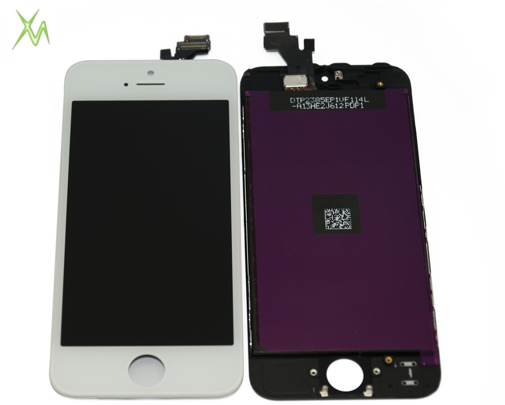 white color Original LCD With OEM Front Glass Assembly For iPhone 5 lcd Screen Display Replacement(China (Mainland))