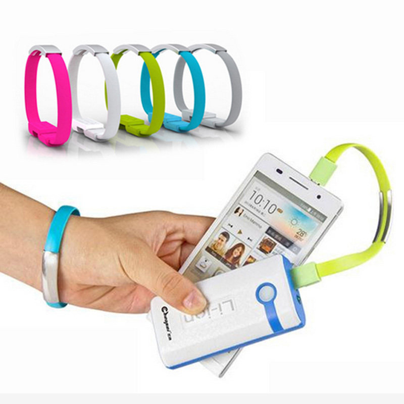 New Arrival Bracelet Mobile Phone Cables Micro USB Data Cable Charging For Samsung Galaxy S3 S4 S6 A3 A5 A7 Note 2 4 M9 M8(China (Mainland))