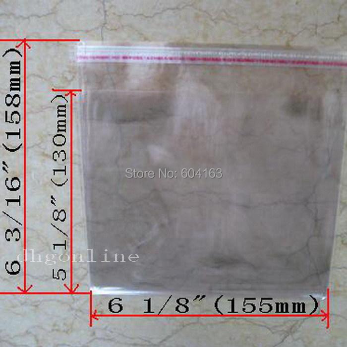 50 PCS OPP Plastic Bag CD Box Jewel Case Wrap bags(China (Mainland))