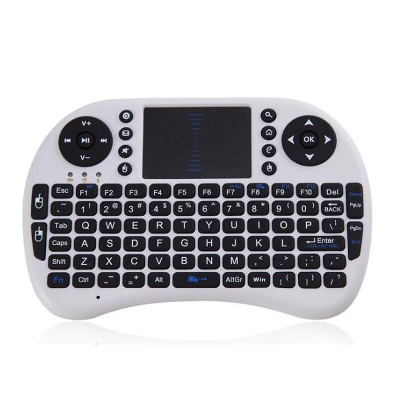 Mini i8 Keyboard White with Bluetooth for Windows 2000 / XP / Vista / 7 i8 Keyboard 2.4G Hebrew Russian Spanish English Keyboard(China (Mainland))