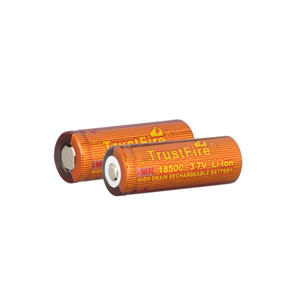 TrustFire Rechargeable Drain Battery 18500 1100mAh 3.7V IMR Rechargeable High Drain Battery for Electronic Smoke Flashlight(China (Mainland))