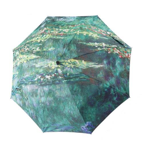 Творческий водяные лилии шаблон 3 складные женщины зонтик двойной утолщение зонтик зонтик уф зонтик, SKU 04A1C28