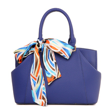 2016 New fashion women PU leather handbag Women Messenger Bags Ladies Tote shoulder bag crossbody bag with scarf designer bolsas(China (Mainland))