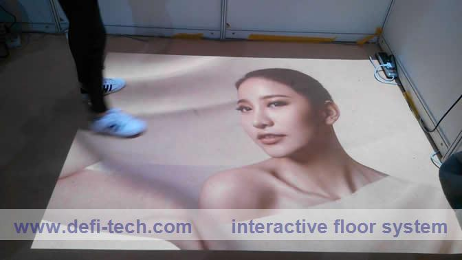 ,Floor advertising interactive projection system for floor advertising, event, exhibition/ 118 effects(China (Mainland))