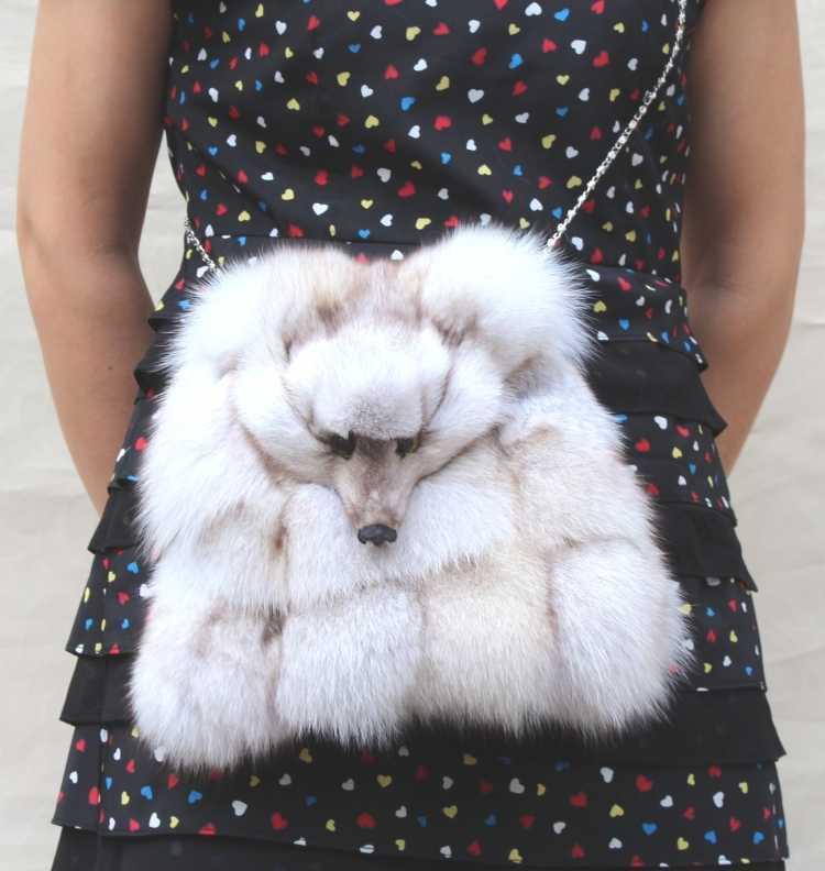2015 Latest Fashion Fur Fox Bag Lady Chain Shoulder Messenger Bag Luxurious Fox Fur Bag Crossbody Bags For Women H5452<br><br>Aliexpress