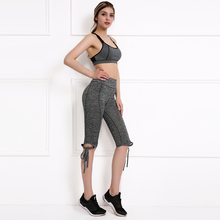 Buy Fitness Legging Women Pants Trousers Ladies Leggins Light Grey High Waist Crisscross Tie Fitness Elastic Workout Leggings legins for $8.49 in AliExpress store