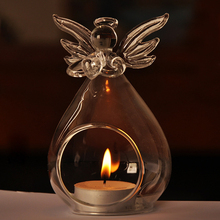 1pc Angel Shaped Glass Hanging Scented Candle Holder Home Decor Wedding Decoration Romantic Candlelight Dinner Table Decoration(China (Mainland))