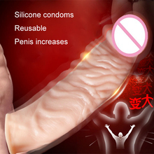 Penis Extensions Sleeve,adult sex toys for woman and  man,anal realistic penis silicone cock,sex products fit for women and man(China (Mainland))