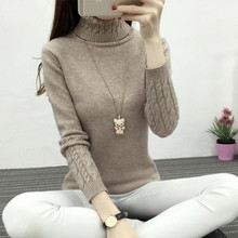 2016 Women Solid Color Knitted Sweater Turtleneck Women Oversized Sweaters And Pullovers Warm Elastic Knitwear Jumper Pull Femme(China (Mainland))