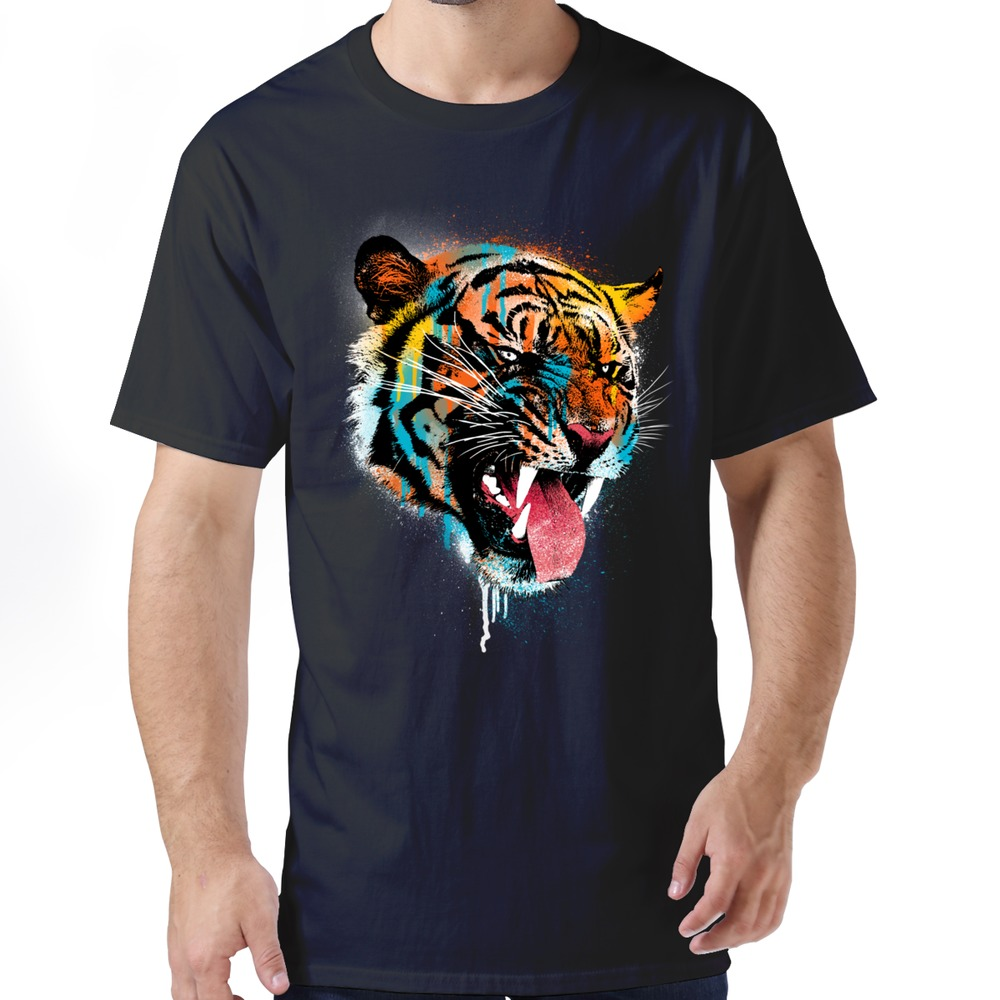 Printed 100 cotton boyfriend top designer 2015 ferocious for Design cheap t shirts