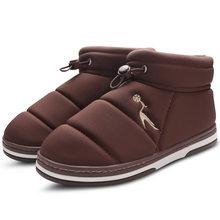 Yarım çizmeler Kadınlar için Kış Kar Botları Peluş ev ayakkabıları Sıcak Bayanlar Ayakkabı Kapalı Rahat Açık Su Geçirmez Botas Feminina(China)