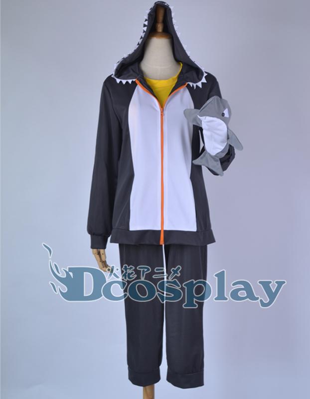 Anime Free! Iwatobi Swim Club Tachibana Makoto Hoodie Sweatshirt Hooded Killer whales Coat+pant+top Cosplay Costume with gloves(China (Mainland))